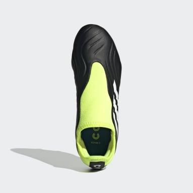 Children Soccer Black Copa Sense.3 Laceless Firm Ground Cleats