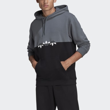Men's Originals Black Adicolor Sliced Trefoil Hoodie