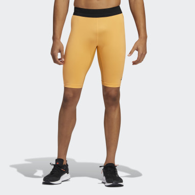 Men's Yoga Orange HEAT.RDY Techfit Short Tights