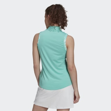 Dames Golf Groen Ultimate365 Sleeveless Poloshirt