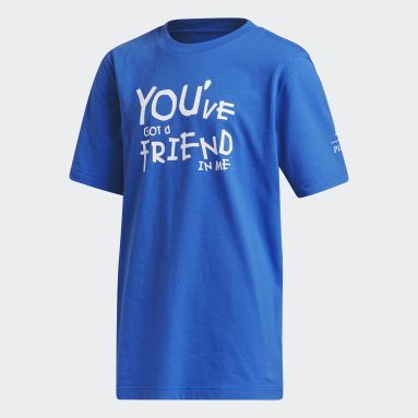 Camiseta You Have A Friend In Me Toy Story (UNISSEX) Azul Kids Basquete