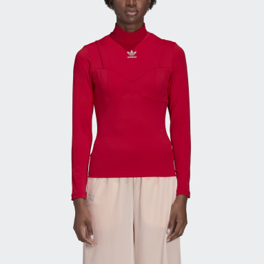Haut AC Long Sleeve Rouge Femmes Originals