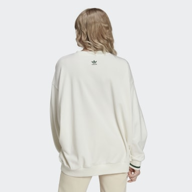 Women's Originals White Tennis Luxe Graphic Sweater