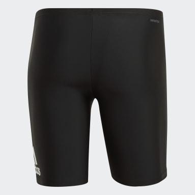 Heren Zwemmen Zwart Badge Fitness Swim Lange Zwembroek