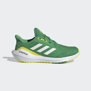 Children Running Green EQ21 Run Shoes