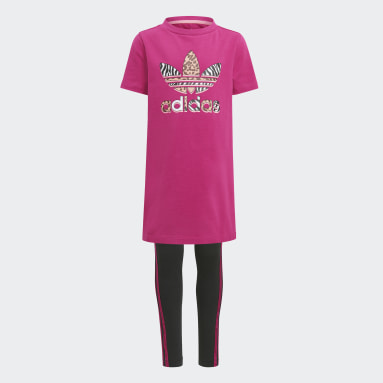 Children Originals Pink Graphic Print Tee Dress Set
