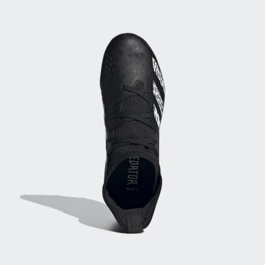 Children Football Black Predator Freak.3 Firm Ground Boots