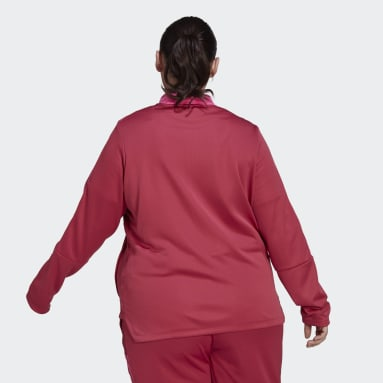 Women Football Pink Tiro Track Top (Plus Size)