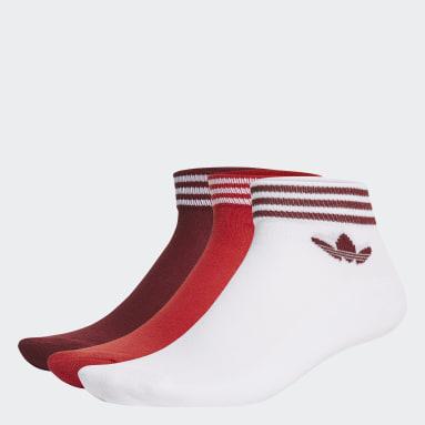 Originals biela Ponožky Trefoil Ankle (3páry)