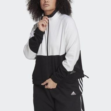 Women's Essentials White adidas x Zoe Saldana Primegreen Tricot Track Jacket (Plus Size)