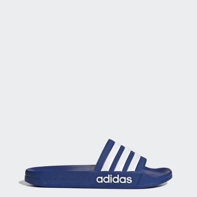 ผู้ชาย ว่ายน้ำ สีน้ำเงิน รองเท้าแตะ Adilette Shower