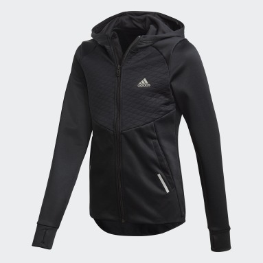 Youth Training Black AEROREADY Full-Zip Hoodie