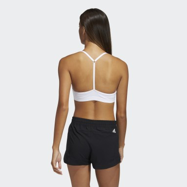 Sujetador All Me Light Support Training Blanco Mujer Gimnasio Y Entrenamiento