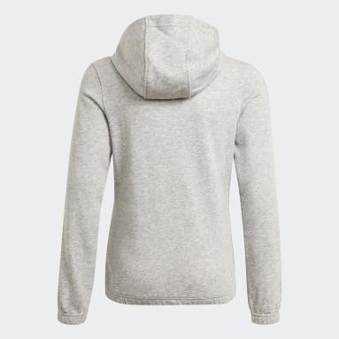 Camisola com Capuz 3-Stripes Essentials Cinzento Raparigas Sportswear