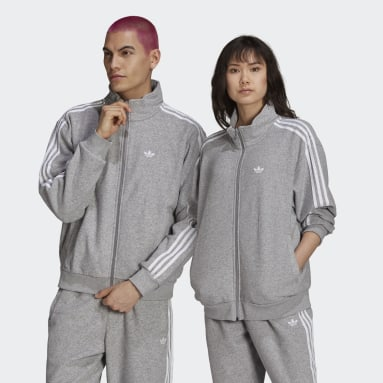 Originals Grå Bouclé Firebird Track Jacket (Gender Neutral)