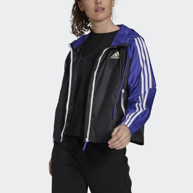 Dames City Outdoor Paars BSC 3-Stripes Windjack