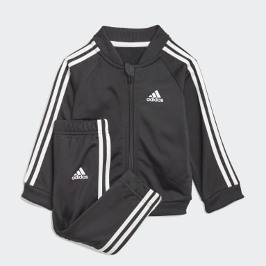 Kids Sportswear Black 3-Stripes Tricot Tracksuit