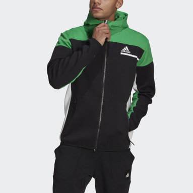 Men Sportswear Black adidas Z.N.E. Full-Zip Hoodie