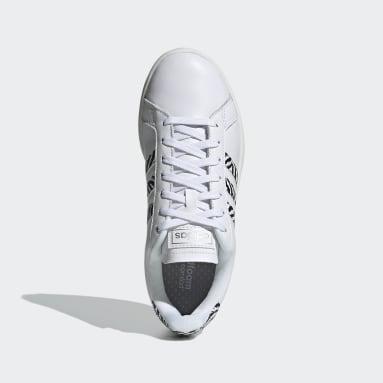 Tenis Grand Court Blanco Mujer Diseño Deportivo