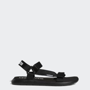 Plavání černá Sandály Comfort