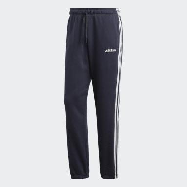 Men's Essentials Blue Essentials 3-Stripes Fleece Pants