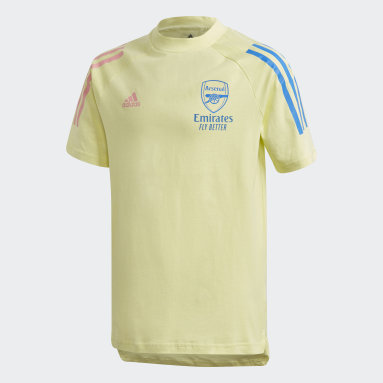Kids Football Yellow Arsenal T-Shirt