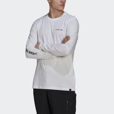 Men Five Ten White Five Ten Graphic Long-Sleeve Top
