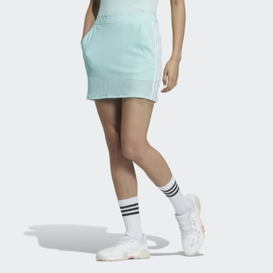 Women Golf Turquoise 3-Stripes Skort
