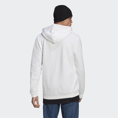 Men Originals White LOUNGEWEAR Trefoil Essentials Hoodie