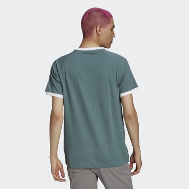 Originals groen Adicolor Classics 3-Stripes T-shirt