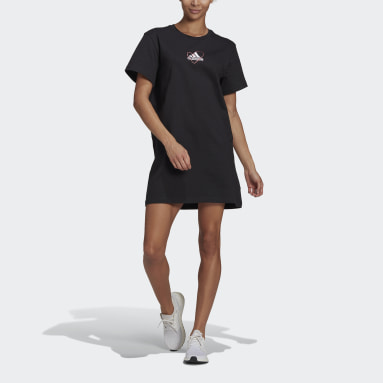 Women Sportswear Black Logo Tee Dress