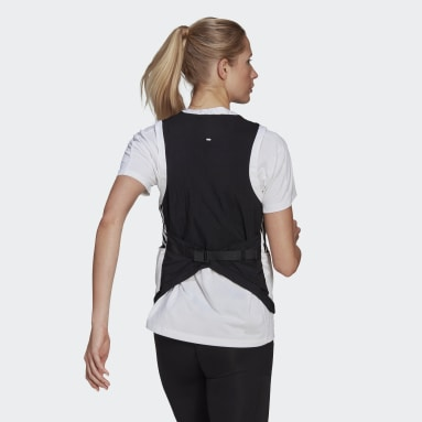 Women Running Black Own The Run 3-Stripes Vest