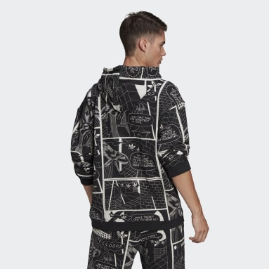 Men Originals Black R.Y.V. Graphic Hoodie