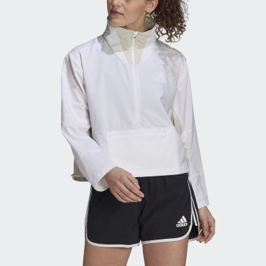 Women Running White Primeblue Adapt Running Jacket