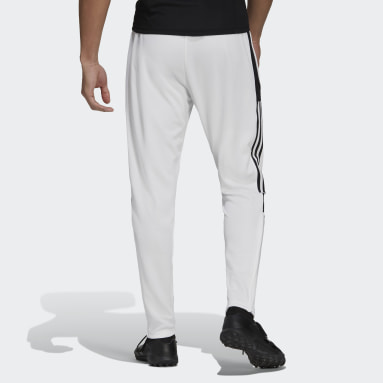 Men Soccer White Tiro Track Pants