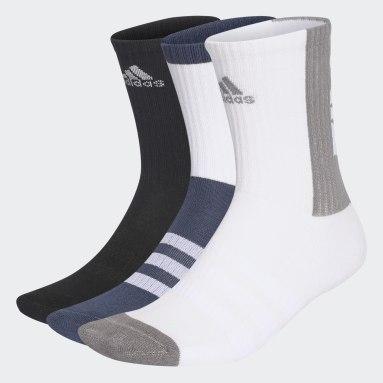 Cricket modrá Ponožky Tiro 21 3-Stripes Cushioned Crew – 3 páry