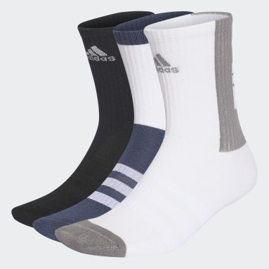 Football Blue Tiro 21 3-Stripes Cushioned Crew Socks 3 Pairs