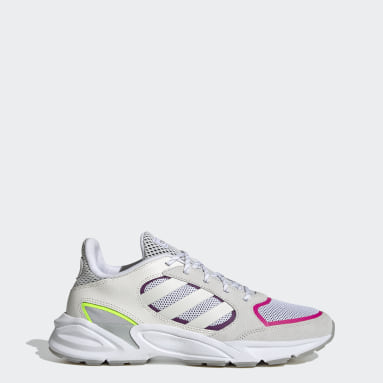 Women Running White 90s Valasion Shoes