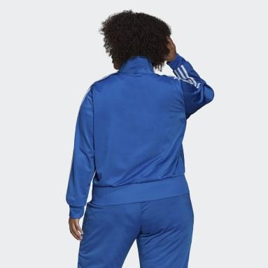 Ženy Originals modrá Sportovní top Adicolor Classics Firebird Primeblue (plus size)