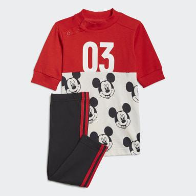Girls Gym & Training Red Disney Mickey Mouse Summer Set