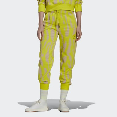 Kvinder adidas by Stella McCartney Gul adidas by Stella McCartney Sportswear College joggingbukser