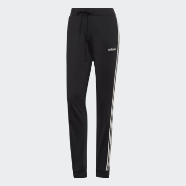 Women Sport Inspired Black Dazzle 3-Stripes Pants