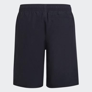 Boys Swimming Blue Bold 3-Stripes Swim Shorts