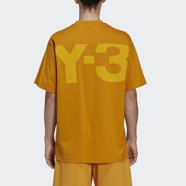 Men's Y-3 Yellow Y-3 Classic Offset Logo Short Sleeve Tee