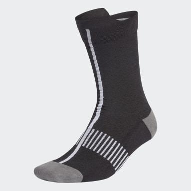 Frauen Cricket Ultralight Performance Crew Socken Schwarz