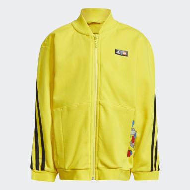 เด็ก เทรนนิง สีเหลือง ชุดแทรค adidas x Classic LEGO® 3-Stripes