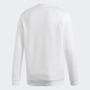 Felpa Trefoil Warm-Up Crew Bianco Uomo Originals