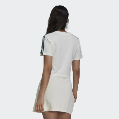 Women's Originals White Tennis Luxe Cropped Tee