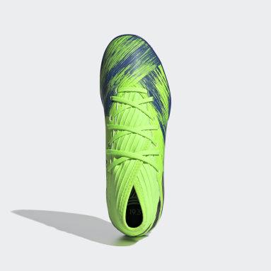 Children Soccer Green Nemeziz 19.3 Indoor Shoes