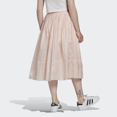 Women's Originals Pink Pleated Midi Skirt